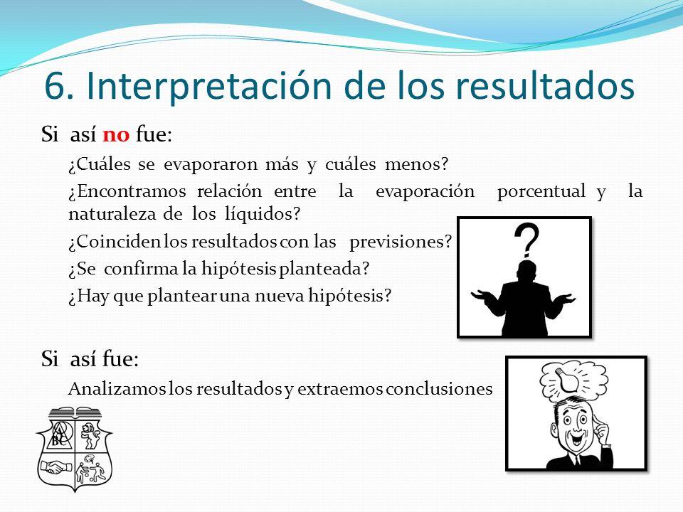 6. Interpretación de los resultados