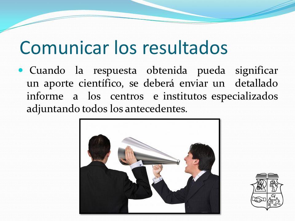 Comunicar los resultados