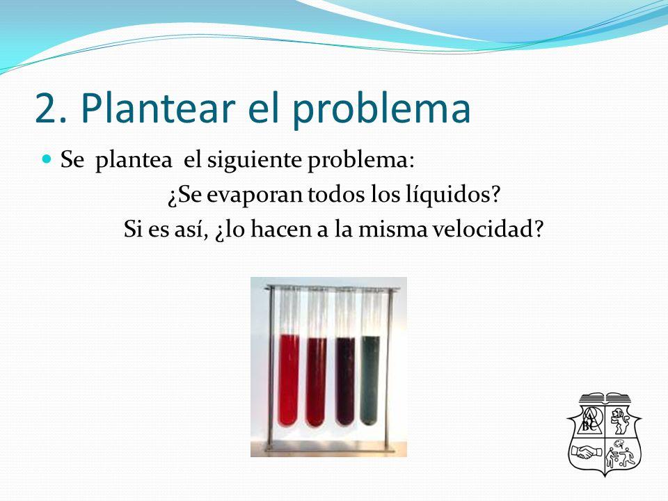 2. Plantear el problema Se plantea el siguiente problema: