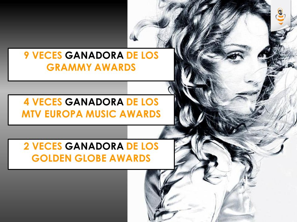 9 veces ganadora de los grammy awards MTV EUROPA MUSIC AWARDS