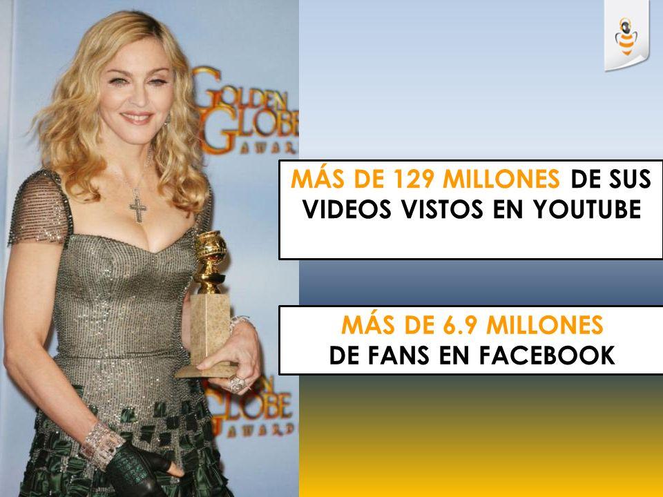 MÁS DE 129 millONES DE SUS VIDEOS VISTOS EN YOUTUBE