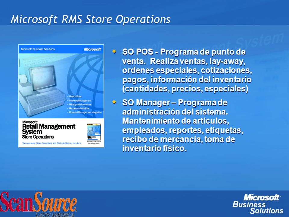 Microsoft RMS Store Operations