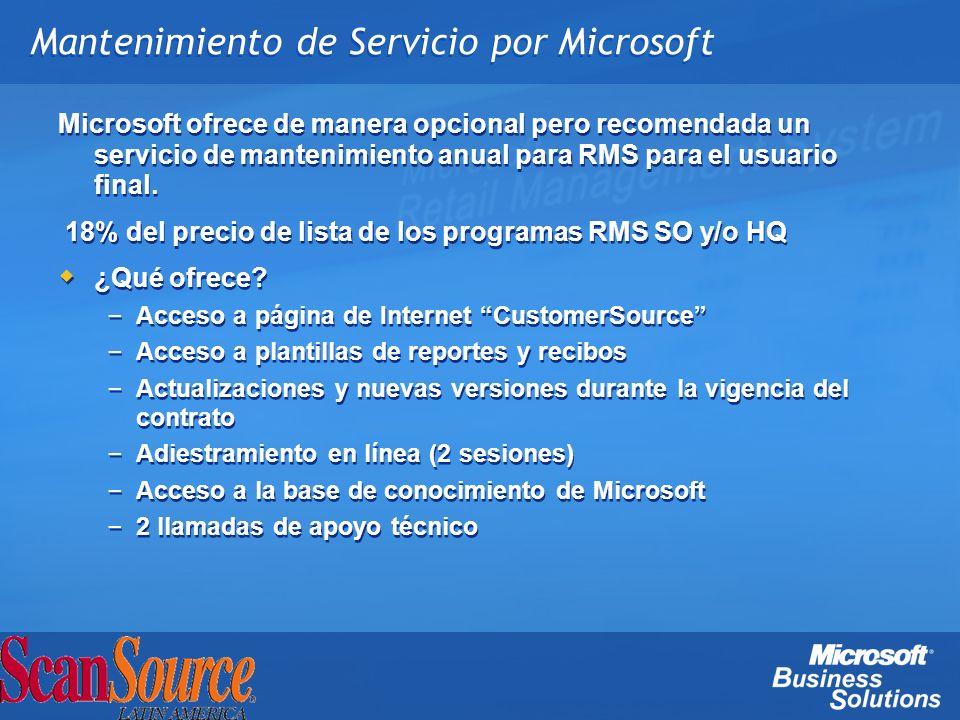 Mantenimiento de Servicio por Microsoft