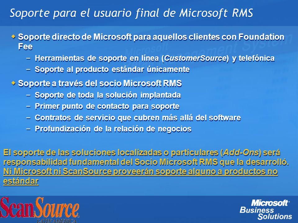 Soporte para el usuario final de Microsoft RMS