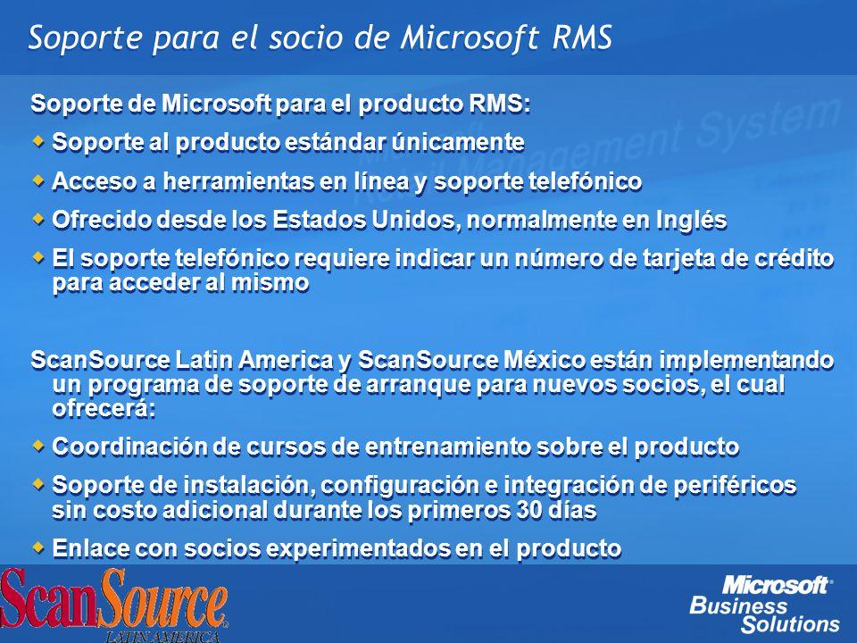Soporte para el socio de Microsoft RMS