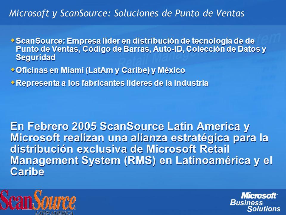 Microsoft y ScanSource: Soluciones de Punto de Ventas