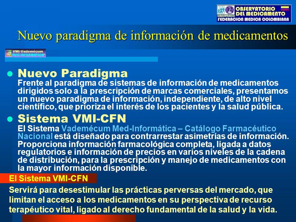 Nuevo paradigma de información de medicamentos