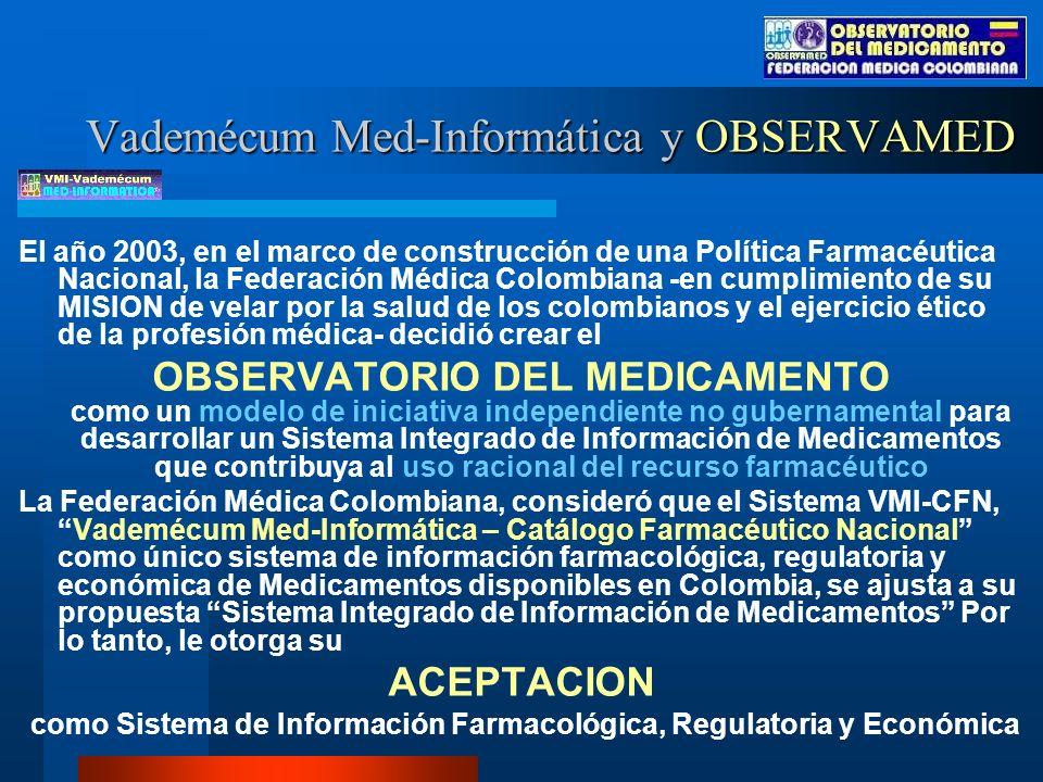 Vademécum Med-Informática y OBSERVAMED