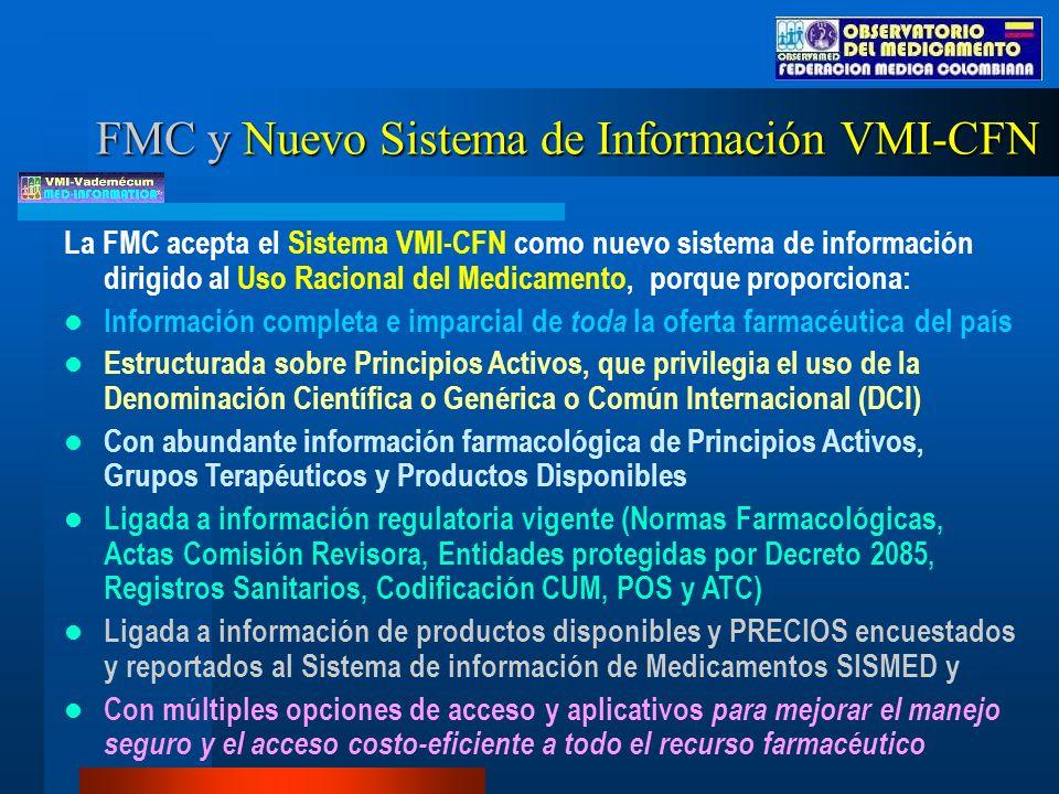 FMC y Nuevo Sistema de Información VMI-CFN
