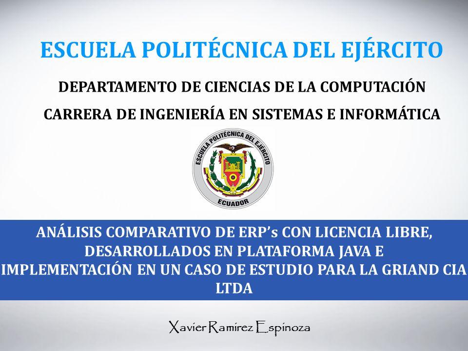 IMPLEMENTACIÓN EN UN CASO DE ESTUDIO PARA LA GRIAND CIA LTDA