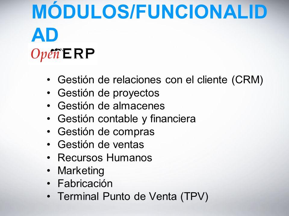MÓDULOS/FUNCIONALIDAD