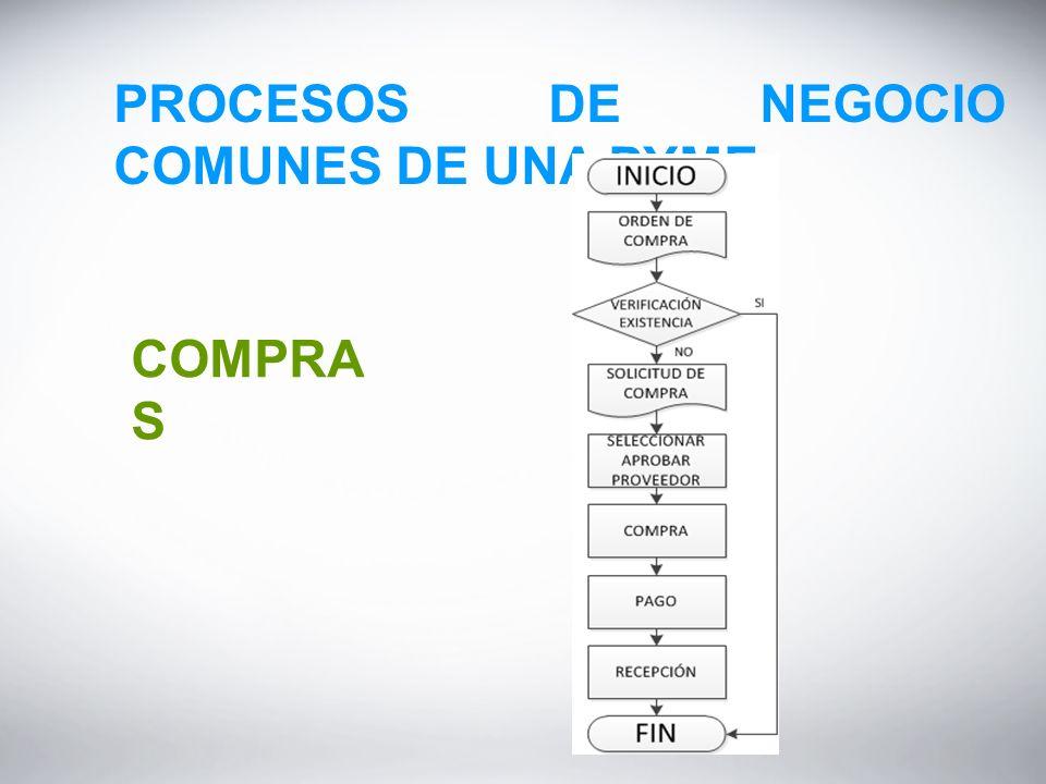 PROCESOS DE NEGOCIO COMUNES DE UNA PYME