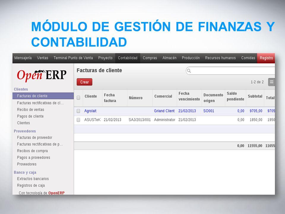 MÓDULO DE GESTIÓN DE FINANZAS Y CONTABILIDAD