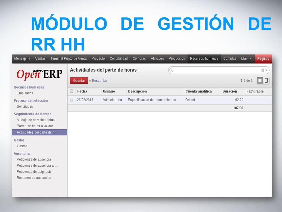 MÓDULO DE GESTIÓN DE RR HH