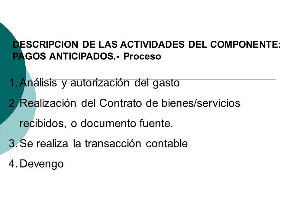 Análisis y autorización del gasto