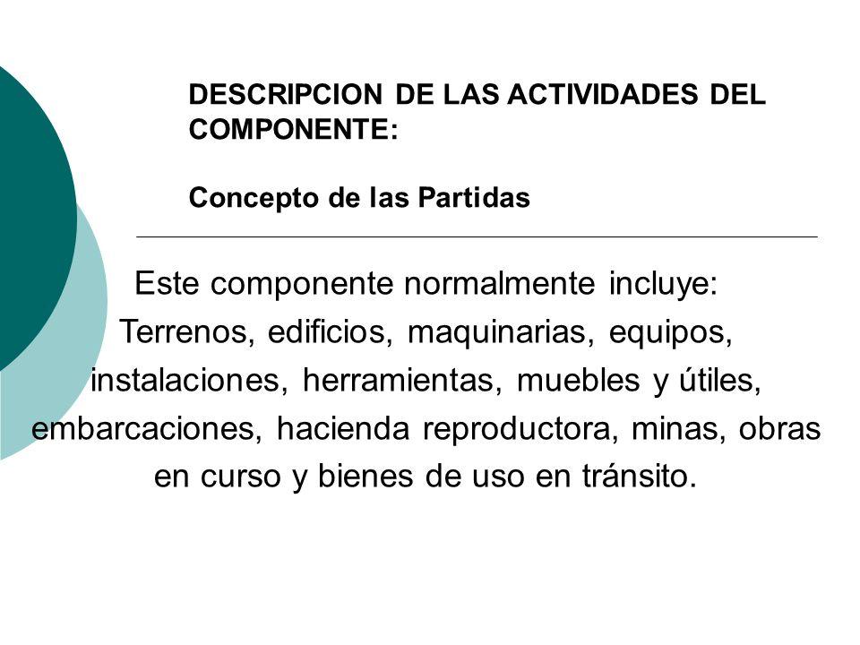 Este componente normalmente incluye: