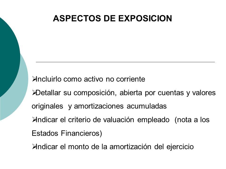 ASPECTOS DE EXPOSICION