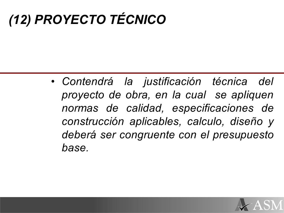 (12) PROYECTO TÉCNICO