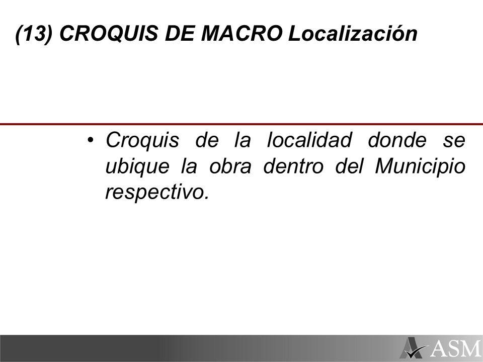 (13) CROQUIS DE MACRO Localización