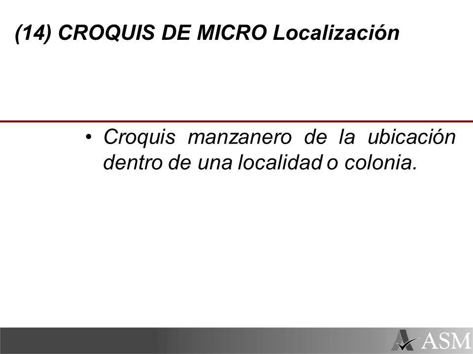 (14) CROQUIS DE MICRO Localización