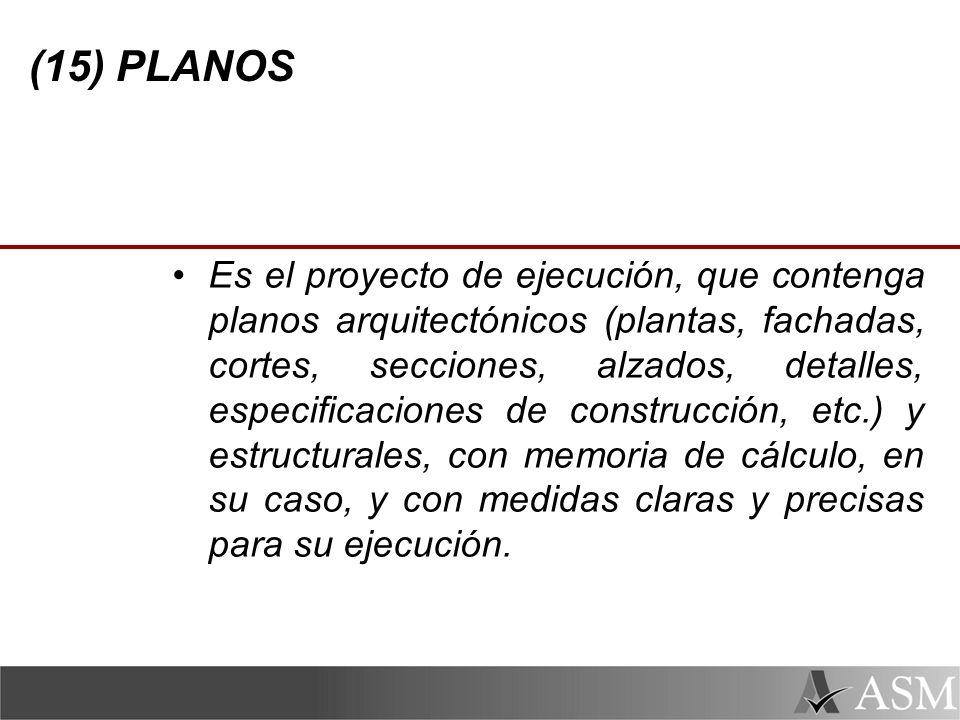 (15) PLANOS