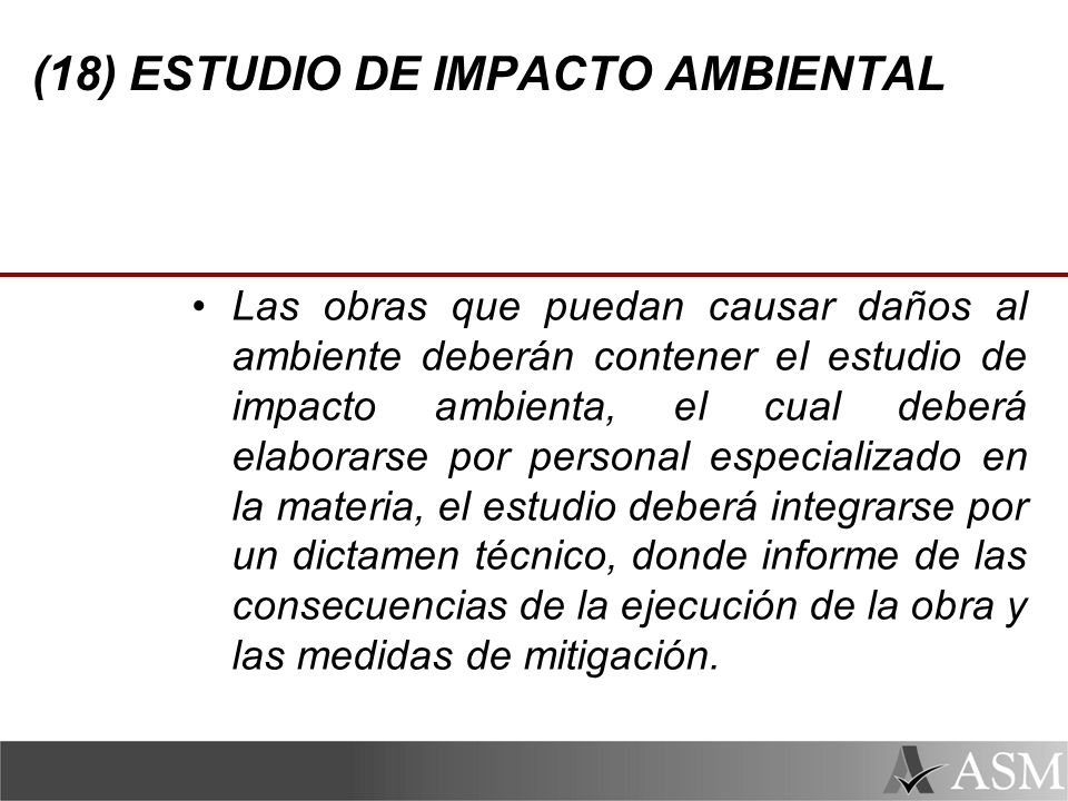 (18) ESTUDIO DE IMPACTO AMBIENTAL