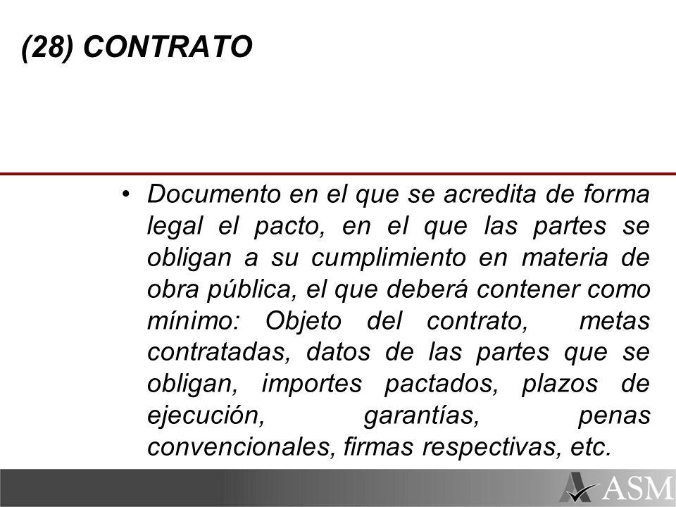 (28) CONTRATO