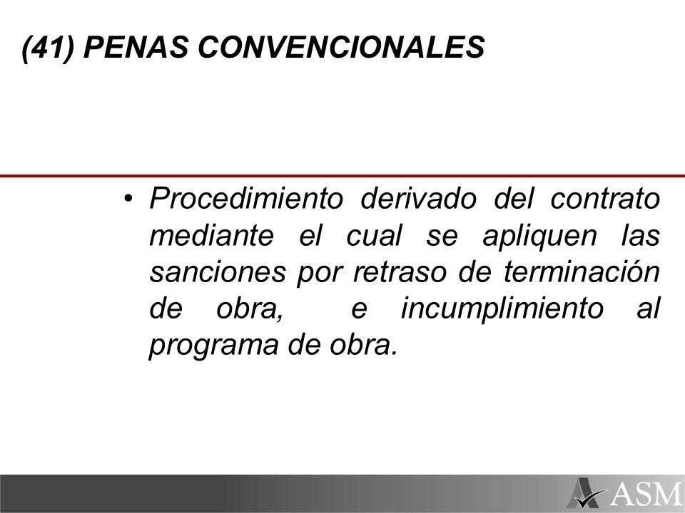 (41) PENAS CONVENCIONALES