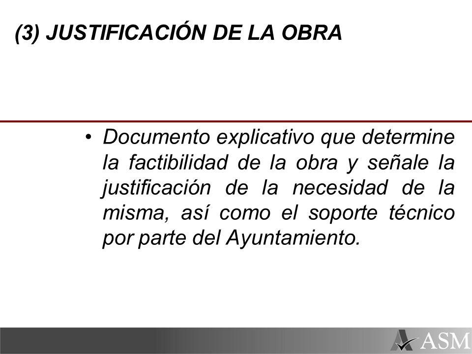 (3) JUSTIFICACIÓN DE LA OBRA