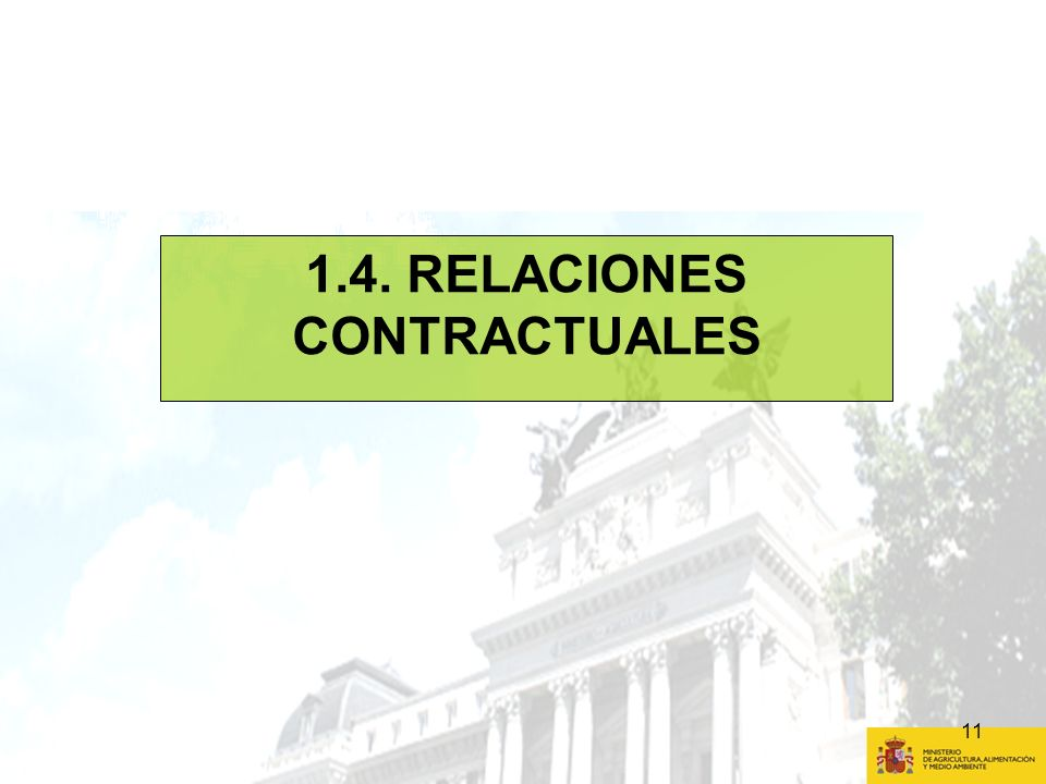 1.4. RELACIONES CONTRACTUALES