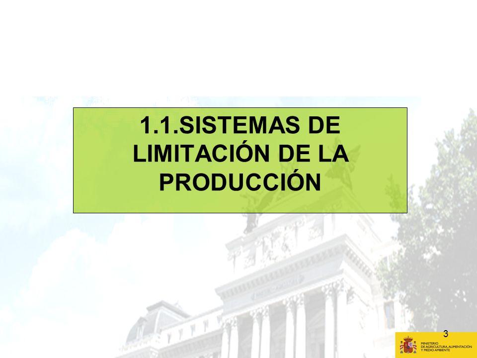 1.1.SISTEMAS DE LIMITACIÓN DE LA PRODUCCIÓN