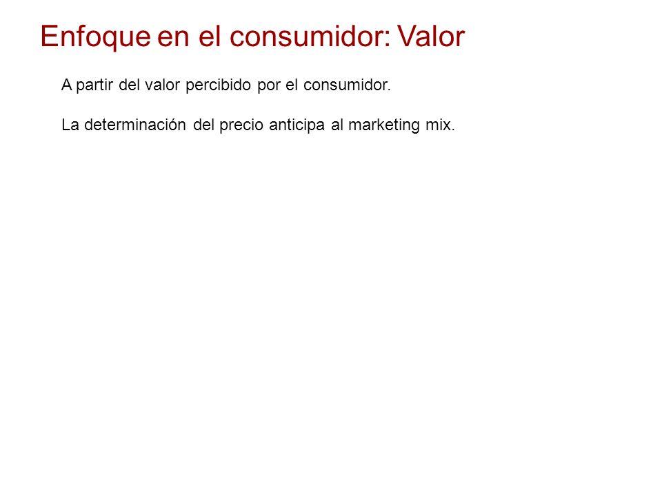 Enfoque en el consumidor: Valor