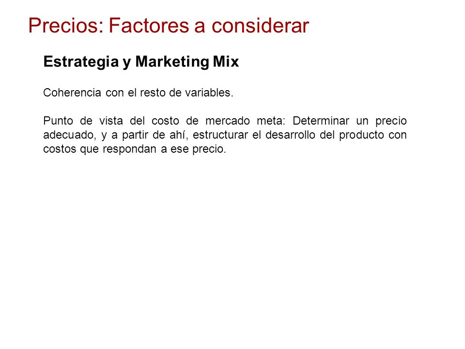 Estrategia y Marketing Mix