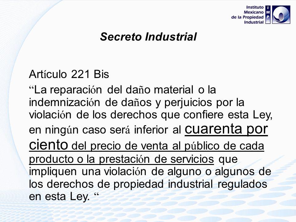 Secreto Industrial Artículo 221 Bis.