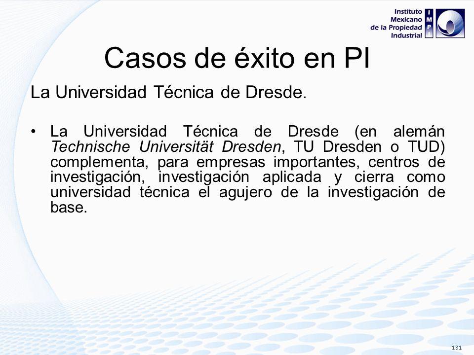 Casos de éxito en PI La Universidad Técnica de Dresde.