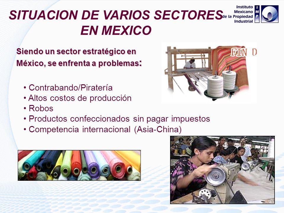 SITUACION DE VARIOS SECTORES EN MEXICO