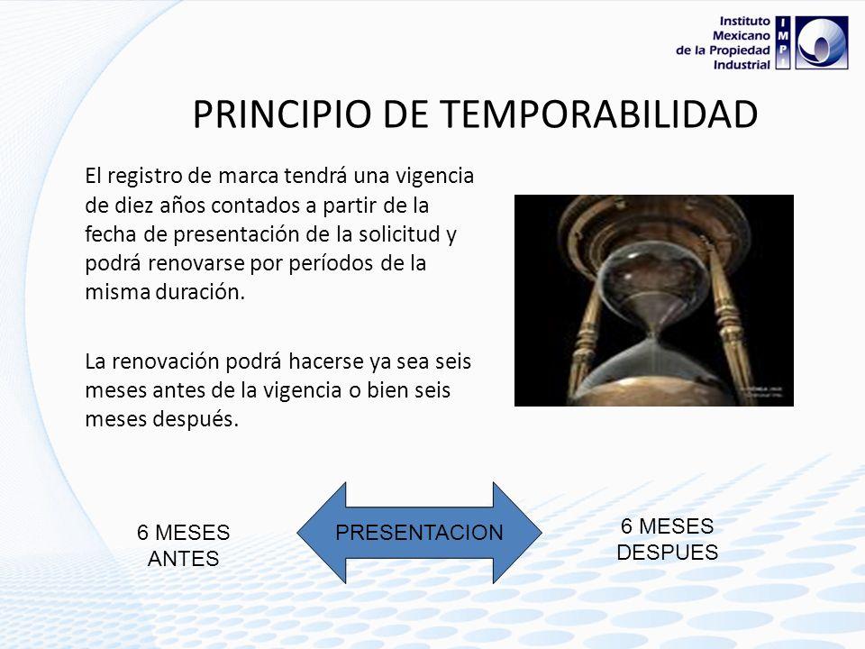 PRINCIPIO DE TEMPORABILIDAD