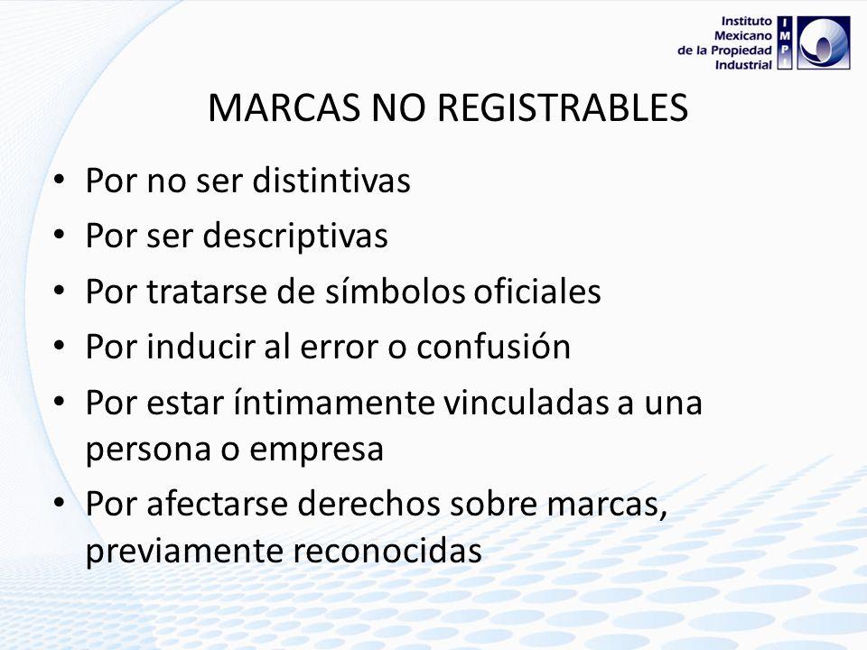MARCAS NO REGISTRABLES