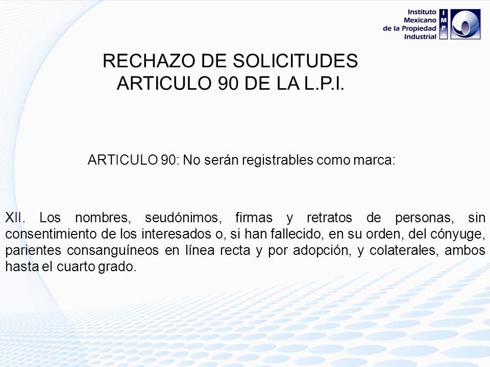 RECHAZO DE SOLICITUDES
