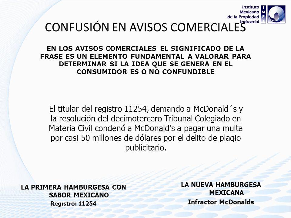 CONFUSIÓN EN AVISOS COMERCIALES