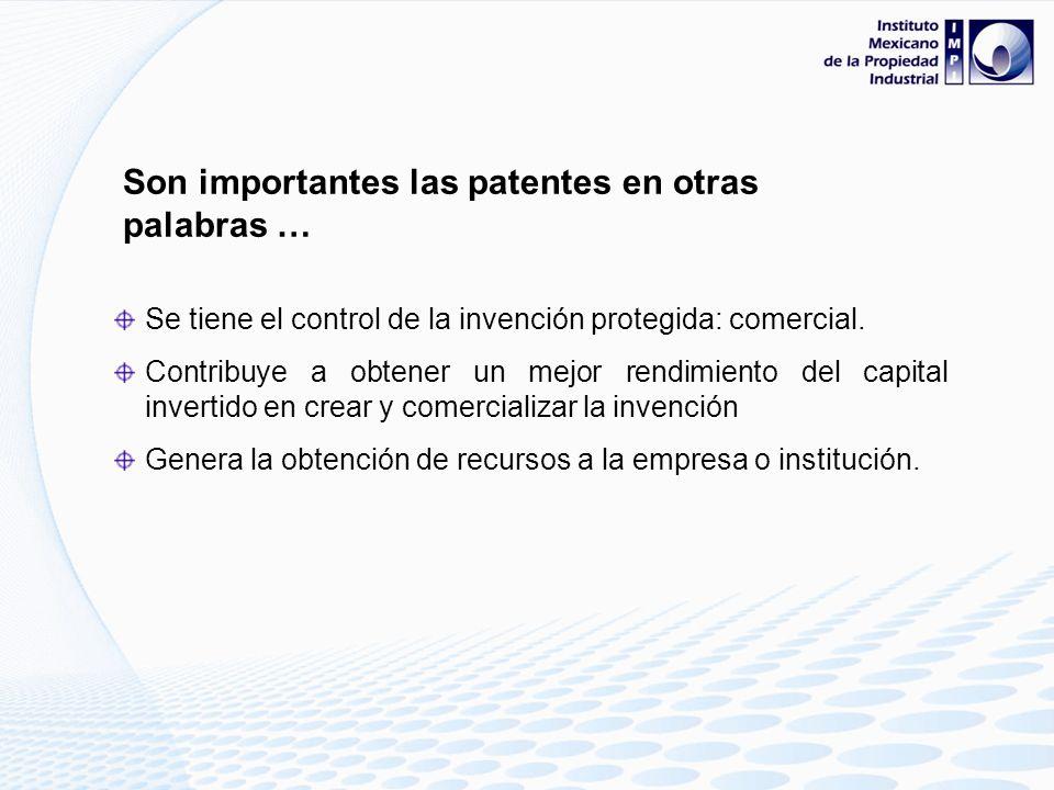 Son importantes las patentes en otras palabras …