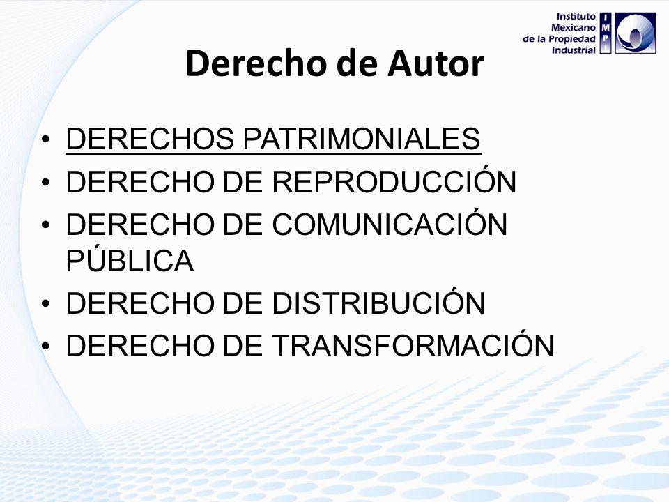 Derecho de Autor DERECHOS PATRIMONIALES DERECHO DE REPRODUCCIÓN