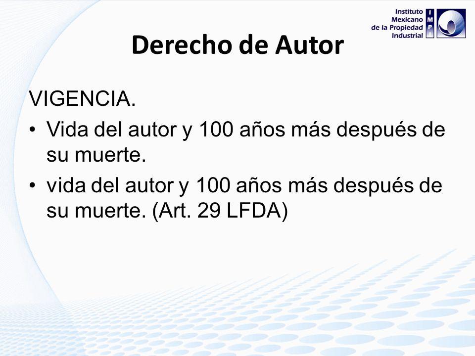 Derecho de Autor VIGENCIA.