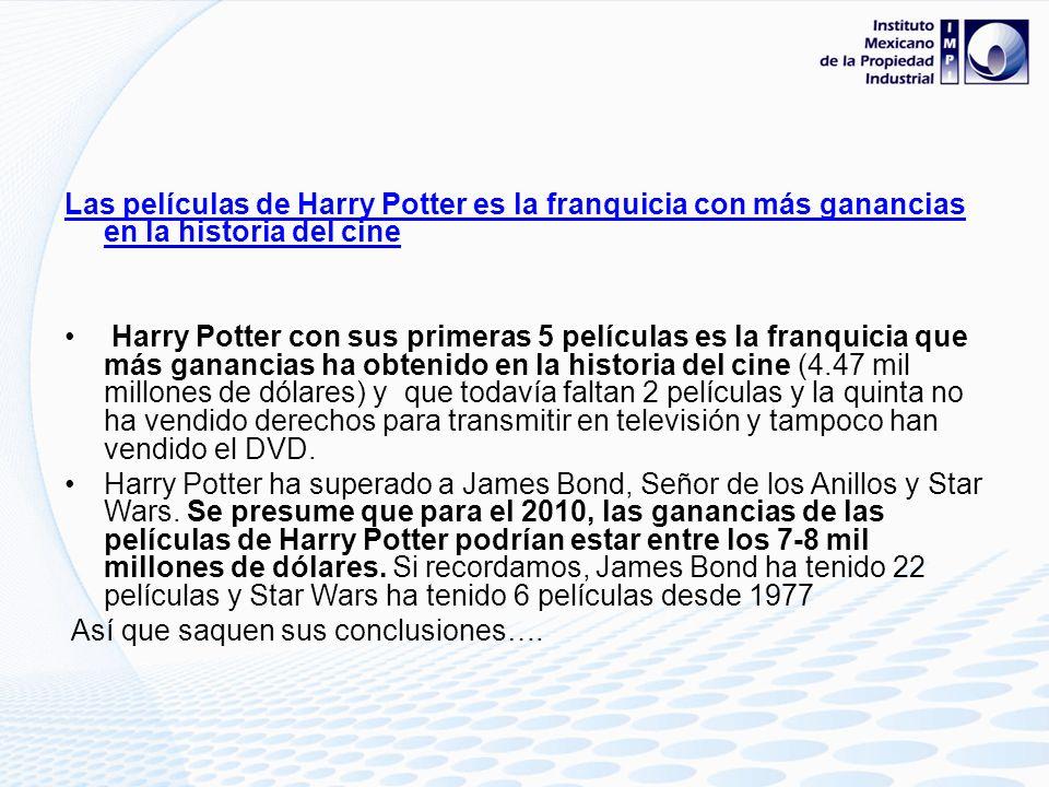 Las películas de Harry Potter es la franquicia con más ganancias en la historia del cine