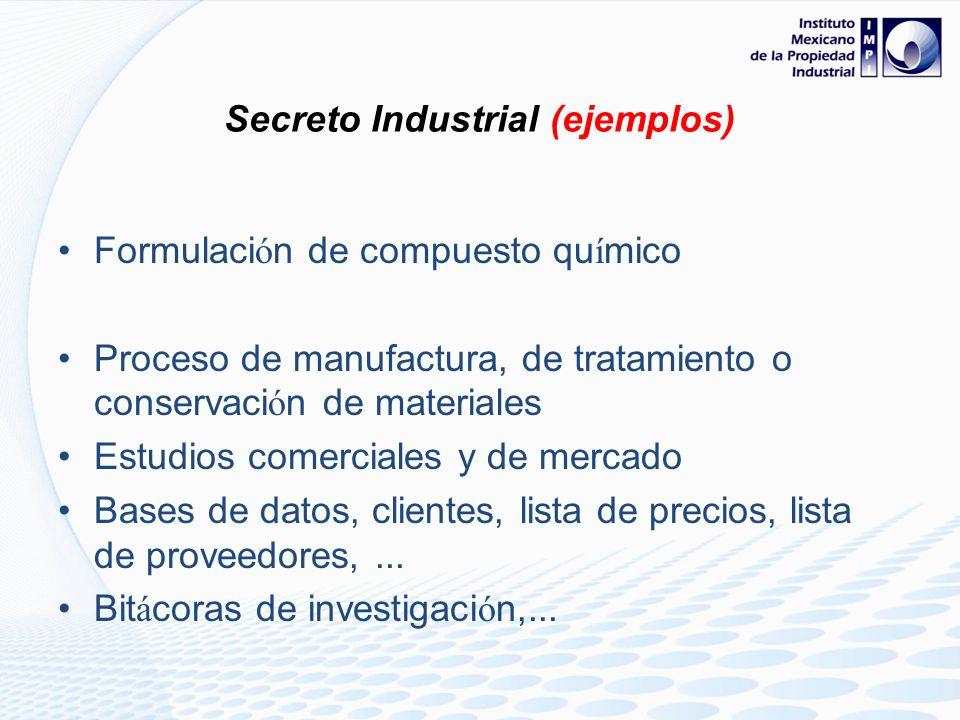 Secreto Industrial (ejemplos)