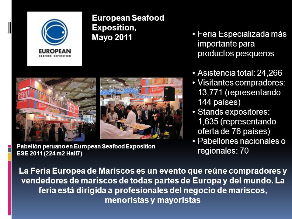 European Seafood Exposition, Mayo 2011