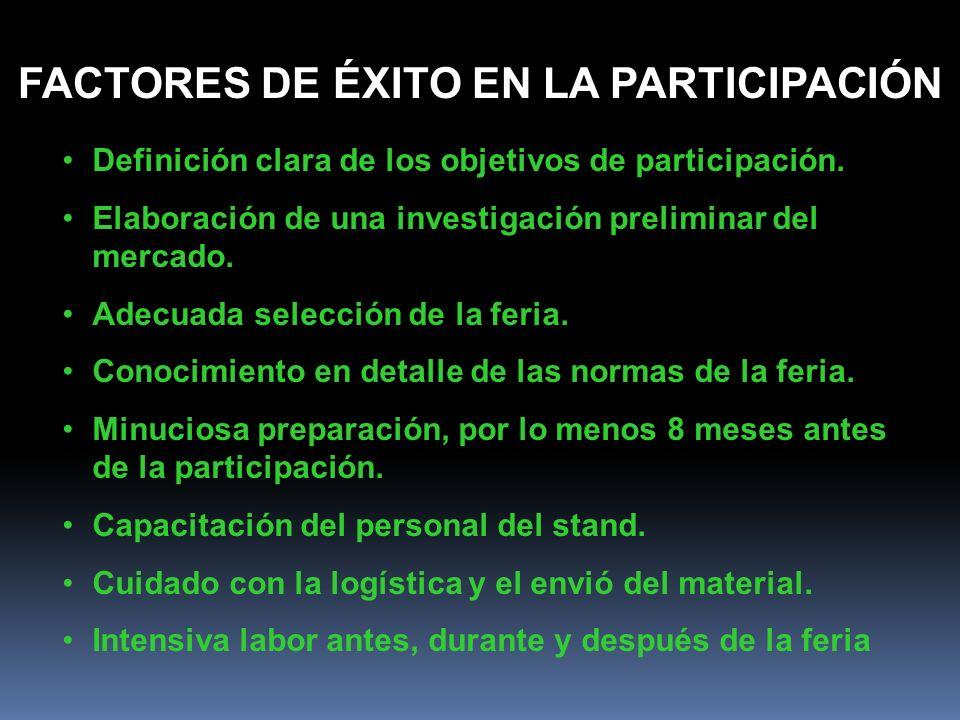 FACTORES DE ÉXITO EN LA PARTICIPACIÓN