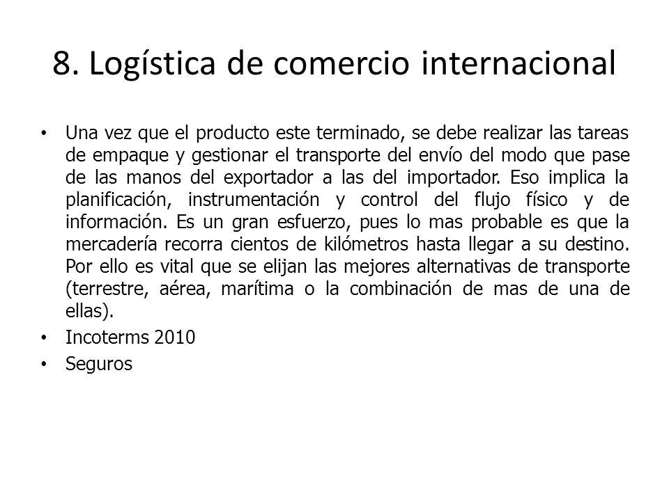 8. Logística de comercio internacional