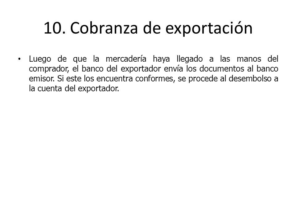 10. Cobranza de exportación