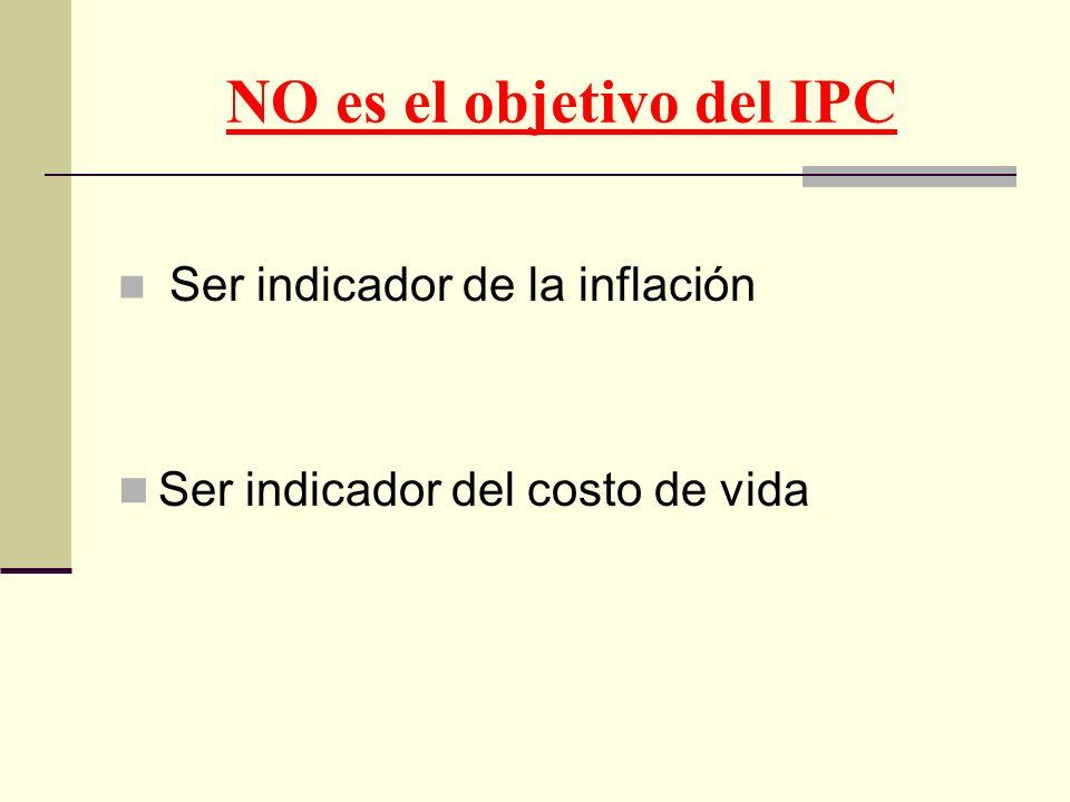 NO es el objetivo del IPC